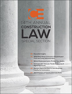 Construction Executive Digital Edition Directory of Construction Law Firms